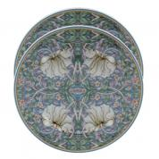 Portselan taldrikud 19cm. - William Morris, Pimpernel, sinine